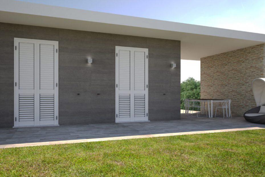 Villa con persiana -3D